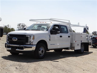 2018 F-350 Crew Cab DRW 4x2,  Scelzi Contractor Flatbed Contractor Body #FJ2626 - photo 1