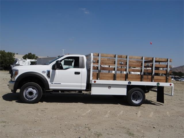 2018 F-450 Regular Cab DRW 4x2,  Scelzi Western Flatbed Stake Bed #FJ2722 - photo 3