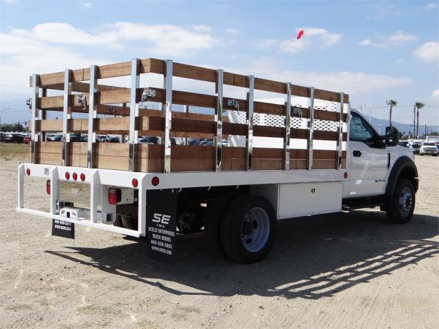 2018 F-450 Regular Cab DRW 4x2,  Scelzi Western Flatbed Stake Bed #FJ2722 - photo 4