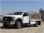 2018 F-450 Regular Cab DRW 4x2,  Scelzi Western Flatbed Stake Bed #FJ2722 - photo 1