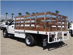 2018 F-450 Regular Cab DRW 4x2,  Scelzi Western Flatbed Stake Bed #FJ2722 - photo 2
