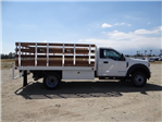 2018 F-450 Regular Cab DRW 4x2,  Scelzi Western Flatbed Stake Bed #FJ2722 - photo 5