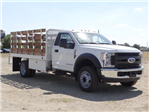 2018 F-450 Regular Cab DRW 4x2,  Scelzi Western Flatbed Stake Bed #FJ2722 - photo 6