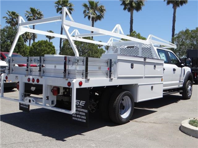 2018 F-450 Crew Cab DRW 4x2,  Scelzi Contractor Flatbed Contractor Body #FJ2944 - photo 4