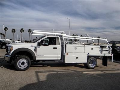 2018 F-550 Regular Cab DRW 4x2,  Scelzi CTFB Contractor Body #FJ3835 - photo 3
