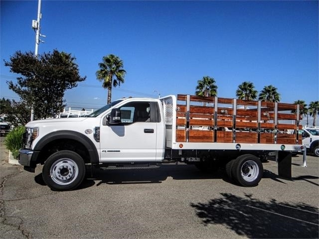 2019 F-450 Regular Cab DRW 4x2,  Scelzi Stake Bed #FK0593 - photo 3