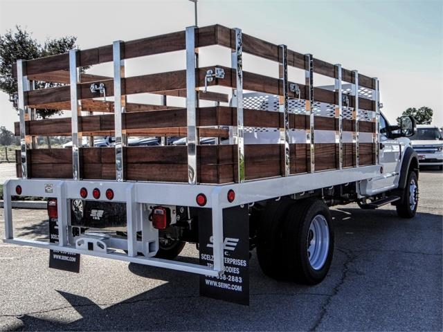 2019 F-450 Regular Cab DRW 4x2,  Scelzi Stake Bed #FK0687 - photo 4
