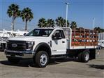 2019 F-450 Regular Cab DRW 4x2,  Scelzi Stake Bed #FK0687 - photo 1