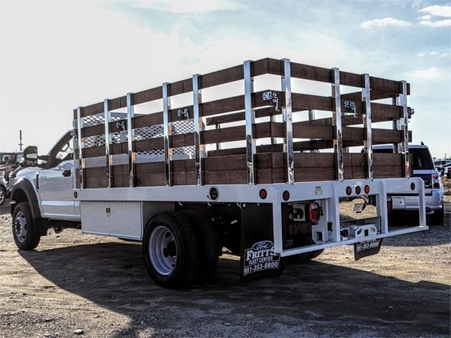 2019 F-450 Regular Cab DRW 4x2,  Scelzi Stake Bed #FK0732DT - photo 2