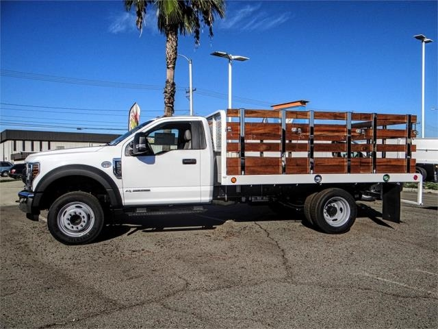 2019 F-550 Regular Cab DRW 4x2,  Scelzi Stake Bed #FK0793 - photo 3