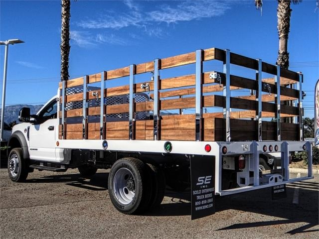 2019 F-550 Regular Cab DRW 4x2,  Scelzi Stake Bed #FK0793 - photo 2