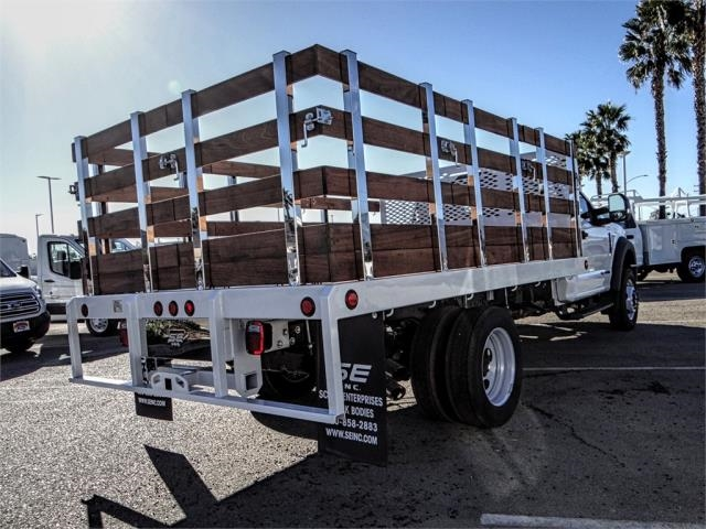 2019 F-550 Regular Cab DRW 4x2,  Scelzi Stake Bed #FK0793 - photo 4