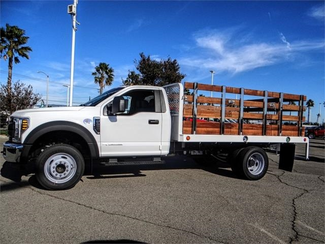 2019 F-450 Regular Cab DRW 4x2,  Scelzi Stake Bed #FK0878 - photo 3