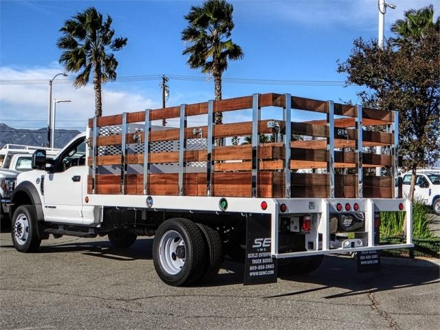 2019 F-450 Regular Cab DRW 4x2,  Scelzi Stake Bed #FK0878 - photo 2