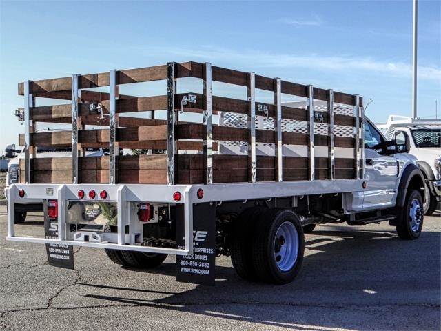 2019 F-450 Regular Cab DRW 4x2,  Scelzi Stake Bed #FK0878 - photo 4