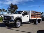 2019 F-450 Regular Cab DRW 4x2,  Scelzi Stake Bed #FK0878 - photo 1