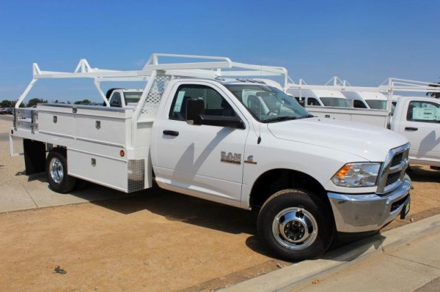 2018 Ram 3500 Regular Cab DRW 4x2,  Scelzi Contractor Body #53729D - photo 3
