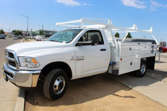 2018 Ram 3500 Regular Cab DRW 4x2,  Scelzi Contractor Body #53729D - photo 5