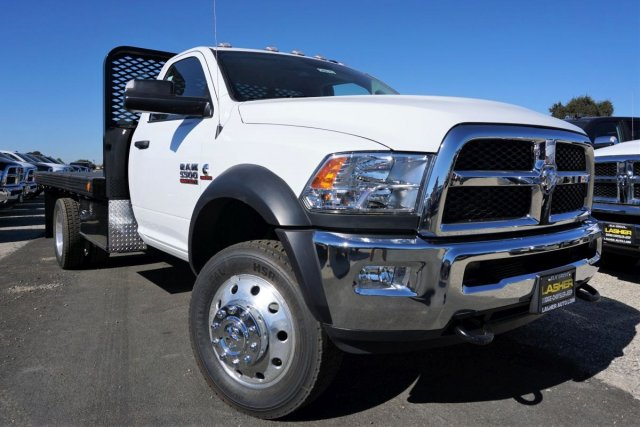 2018 Ram 5500 Regular Cab DRW 4x2,  Scelzi SFB Platform Body #54917D - photo 1