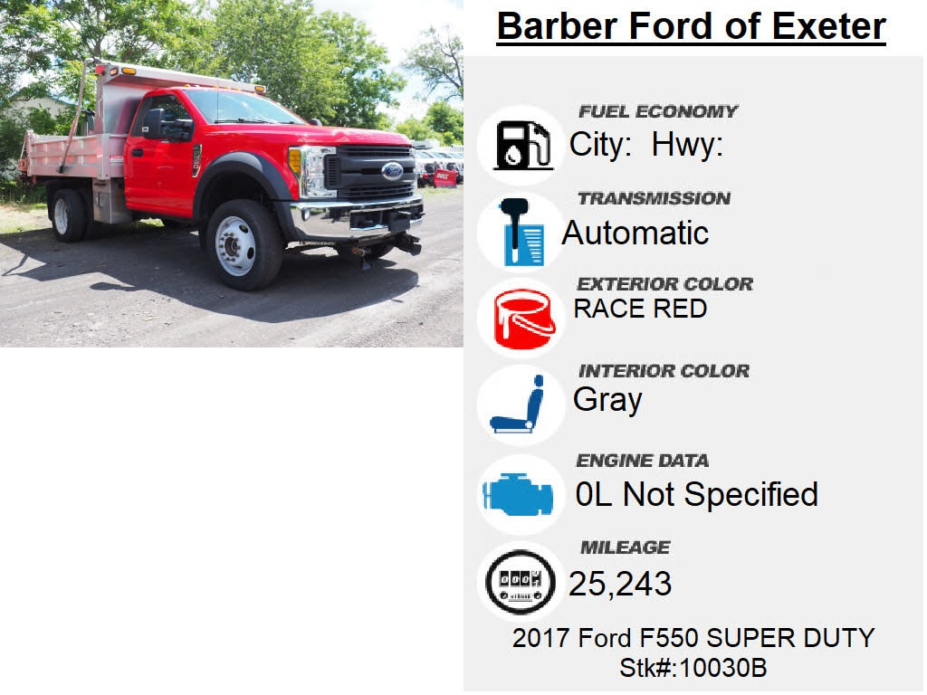 2017 Ford F-550 Regular Cab DRW 4x4, Dump Body #10030B - photo 6