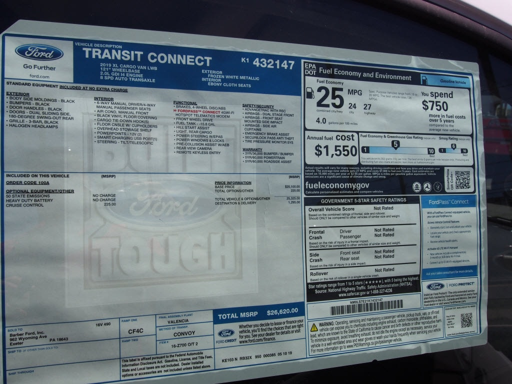 2020 Ford Transit Connect FWD, Empty Cargo Van #10222T - photo 11
