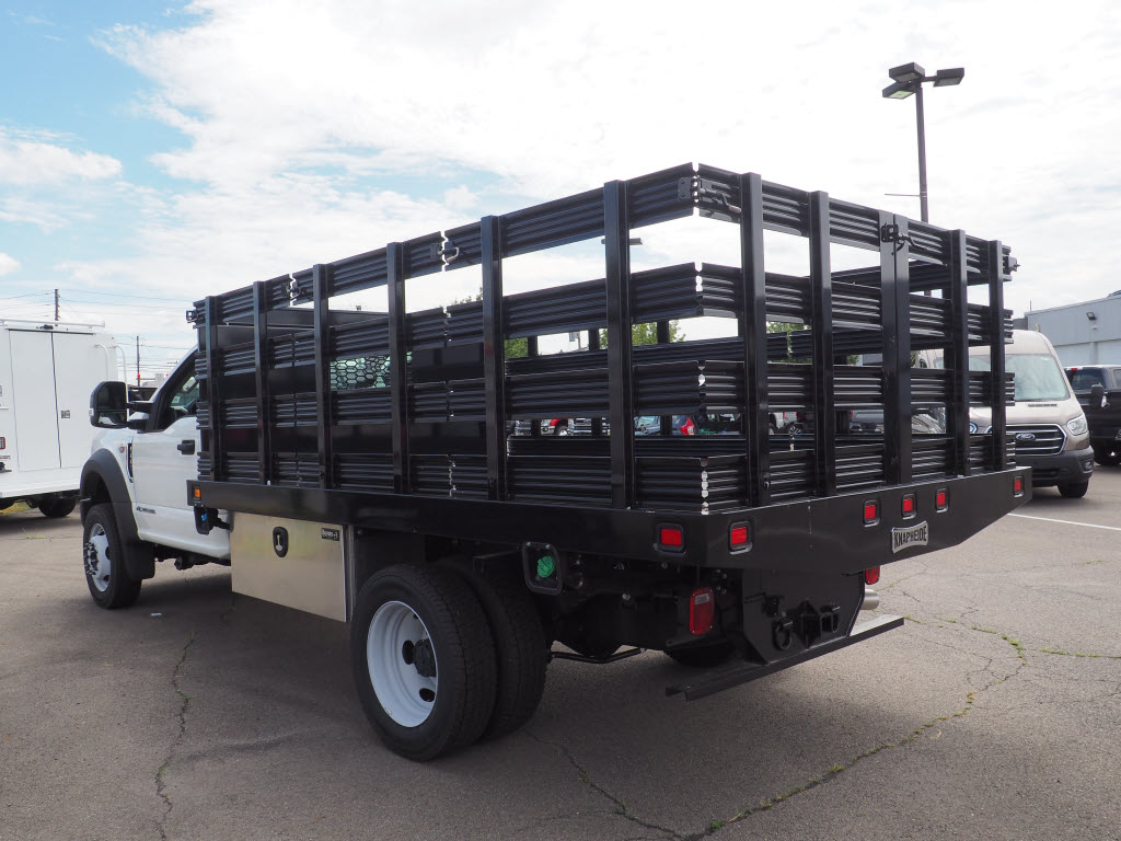 2019 Ford F-550 Regular Cab DRW 4x4, Stake Bed #10308T - photo 6