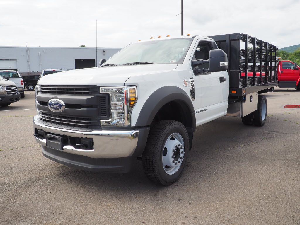 2019 Ford F-550 Regular Cab DRW 4x4, Stake Bed #10308T - photo 8