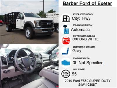 2019 Ford F-550 Regular Cab DRW 4x4, Stake Bed #10308T - photo 4