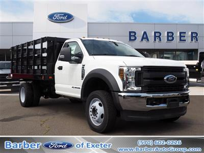 2019 Ford F-550 Regular Cab DRW 4x4, Stake Bed #10308T - photo 1