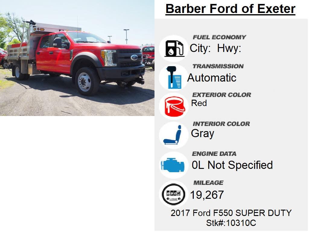 2017 Ford F-550 Crew Cab DRW 4x4, Dump Body #10310C - photo 6