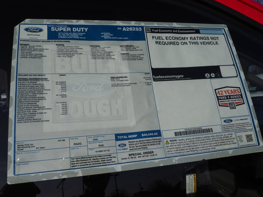 2019 F-550 Regular Cab DRW 4x4, Switch N Go Drop Box Hooklift Body #10480T - photo 9