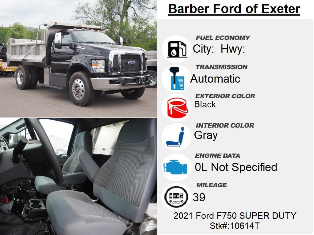 2021 Ford F-750 Regular Cab DRW RWD, Galion 100U Dump Body #10614T - photo 16