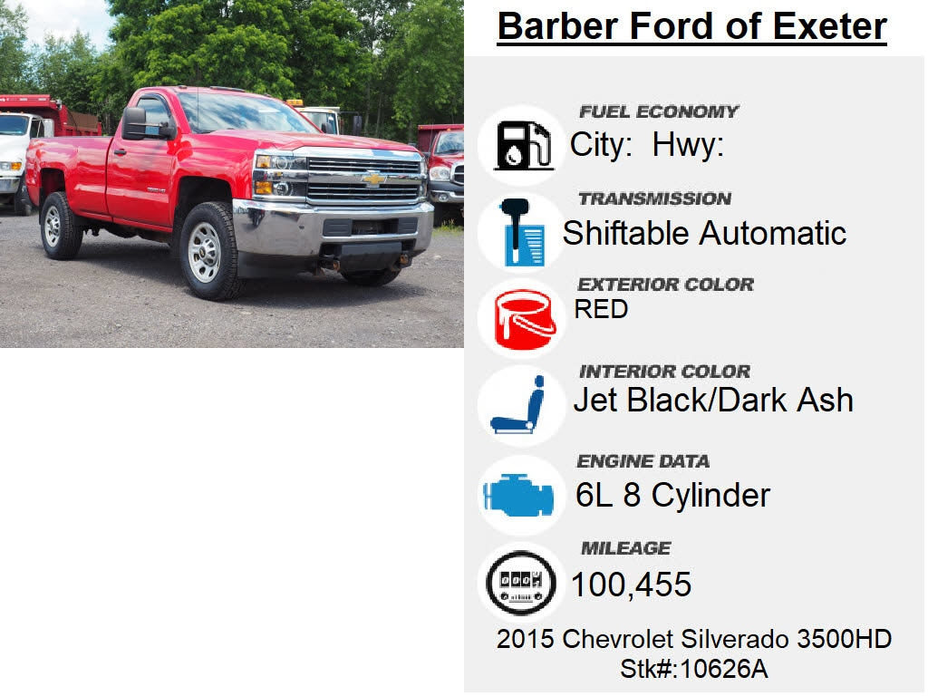 2015 Chevrolet Silverado 3500 Regular Cab 4x4, Pickup #10626A - photo 6