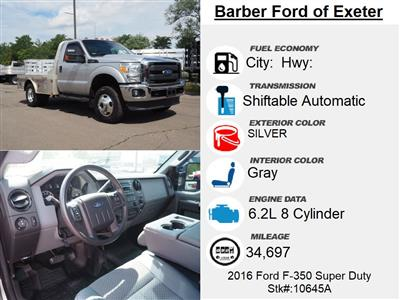 2016 Ford F-350 Regular Cab DRW 4x4, Platform Body #10645A - photo 3