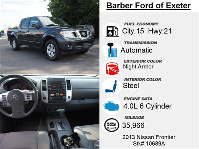 2013 Nissan Frontier Crew Cab 4x4, Pickup #10689A - photo 4