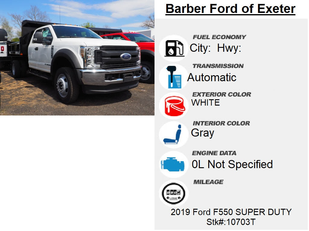 2019 F-550 Super Cab DRW 4x4, Rugby Eliminator LP Steel Dump Body #10703T - photo 3