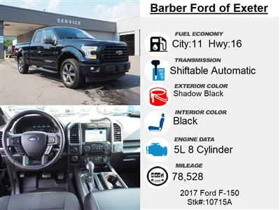 2017 Ford F-150 Super Cab 4x4, Pickup #10715A - photo 4