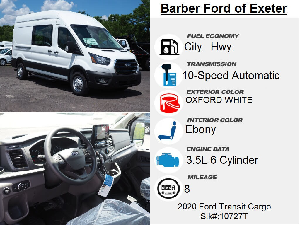 2020 Ford Transit 350 High Roof RWD, Empty Cargo Van #10727T - photo 15