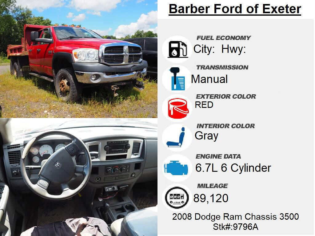 2008 Ram 3500 Quad Cab DRW 4x4, Dump Body #9796A - photo 4