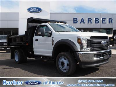 2019 F-550 Regular Cab DRW 4x4, Rugby Eliminator LP Steel Dump Body #10632T - photo 1