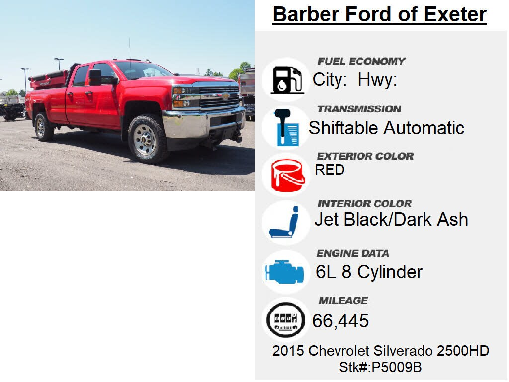 2015 Chevrolet Silverado 2500 Double Cab 4x4, Other/Specialty #P5009B - photo 6