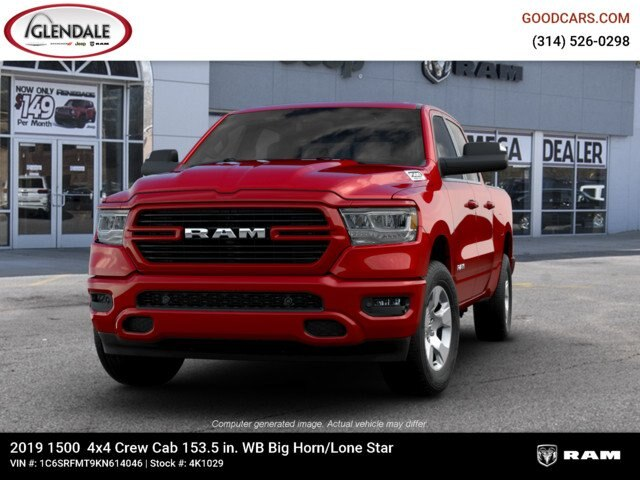 2019 Ram 1500 Crew Cab 4x4,  Pickup #4K1029 - photo 2