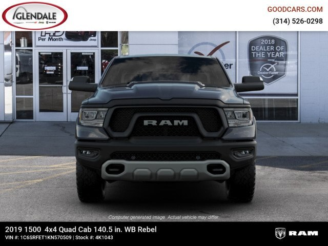2019 Ram 1500 Quad Cab 4x4,  Pickup #4K1043 - photo 3