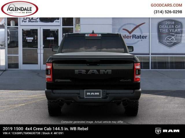 2019 Ram 1500 Crew Cab 4x4,  Pickup #4K1091 - photo 7