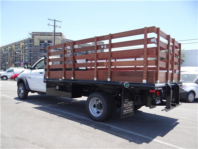 2018 Ram 5500 Regular Cab DRW 4x2,  Martin's Quality Truck Body Stake Bed #R1674T - photo 5