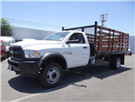 2018 Ram 5500 Regular Cab DRW 4x2,  Martin's Quality Truck Body Stake Bed #R1674T - photo 7