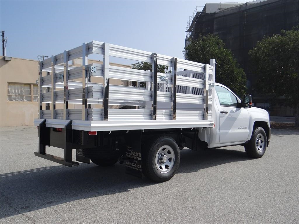 2018 Silverado 1500 Regular Cab 4x2,  Martin's Quality Truck Body Stake Bed #C157766 - photo 2