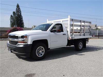 2018 Silverado 1500 Regular Cab 4x2,  Martin's Quality Truck Body Stake Bed #C157766 - photo 7