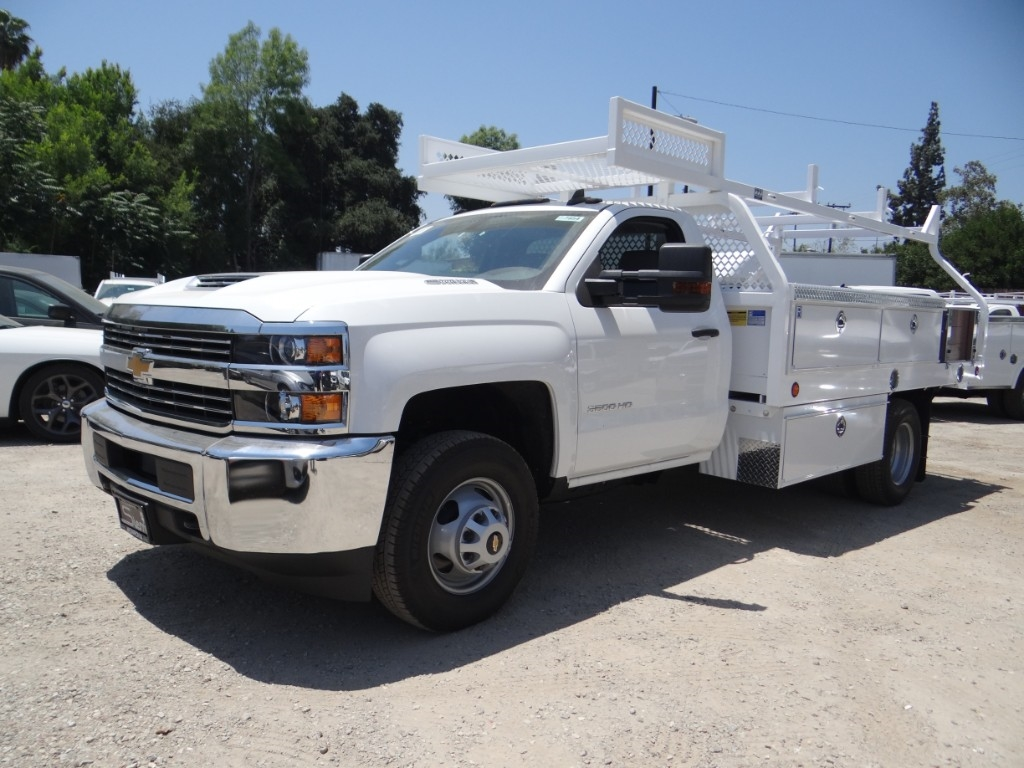 2018 Silverado 3500 Regular Cab 4x2,  Royal Contractor Body #C157854 - photo 6