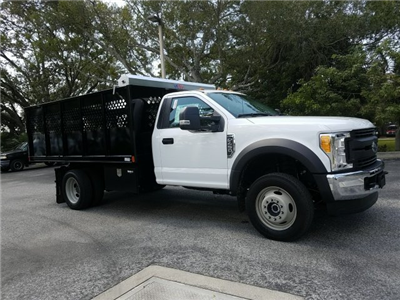 2017 F-450 Regular Cab DRW 4x4, Landscape Dump #HEC11106 - photo 3